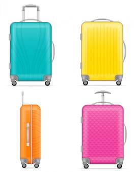 Illustration vectorielle de sac de voyage en plastique