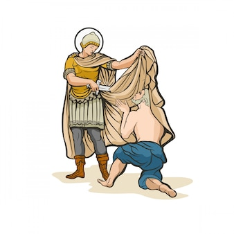 Illustration vectorielle de saint martin