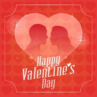 Illustration vectorielle, saint valentin jeune couple et coeur, format eps 10