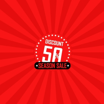 Illustration vectorielle de saison vente bannière