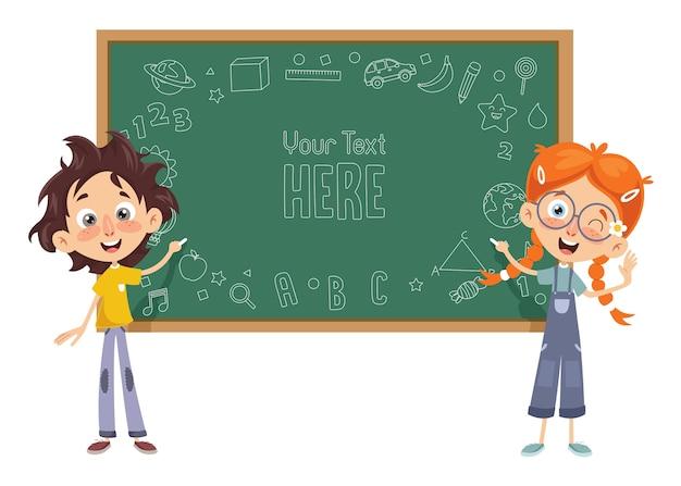 Illustration vectorielle de la salle de classe pour enfants
