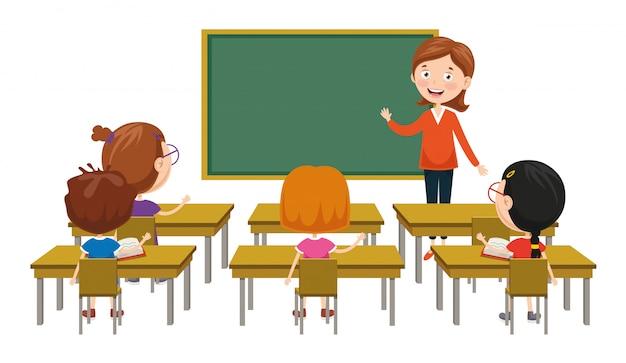 Illustration vectorielle de la salle de classe