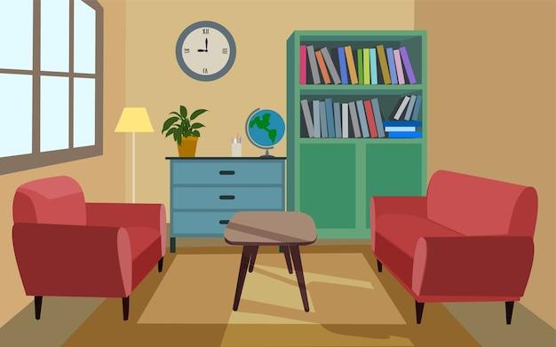 Illustration vectorielle de salon simple