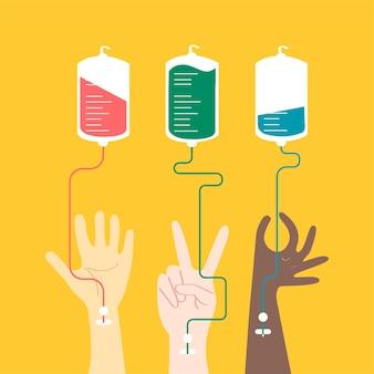 Illustration vectorielle de sang don concept