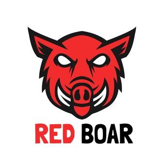 Illustration vectorielle de sanglier rouge design