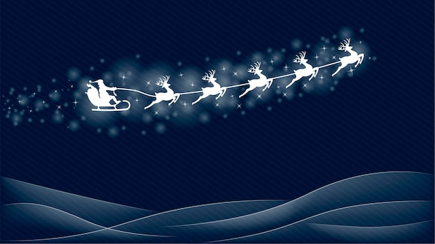 Illustration vectorielle de santa et renne de noël