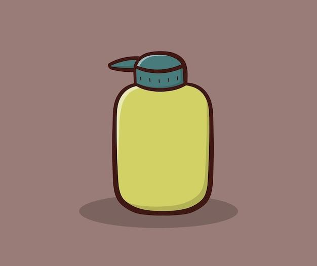 Illustration vectorielle de savon liquide dessin à la main