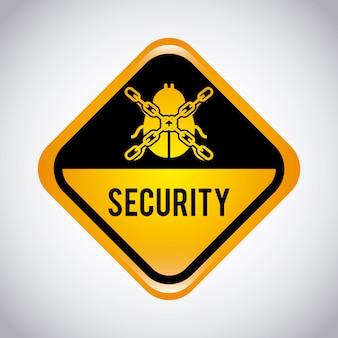 Illustration vectorielle de sécurité design graphique
