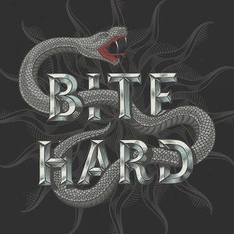 Illustration vectorielle de serpent