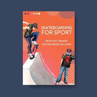 Illustration vectorielle de skateboard illustration design concept.