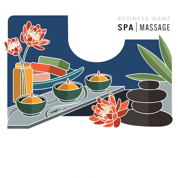 Illustration vectorielle de spa massage