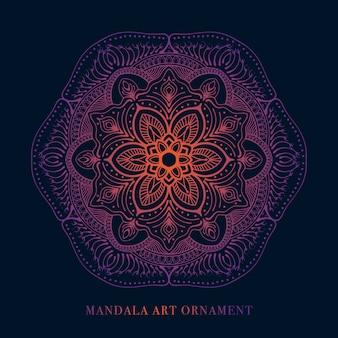 Illustration vectorielle de style rétro mandala art