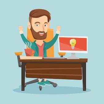 Illustration vectorielle de succès entreprise idée.