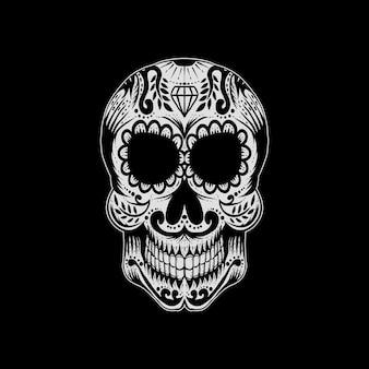 Illustration vectorielle de sucre crâne