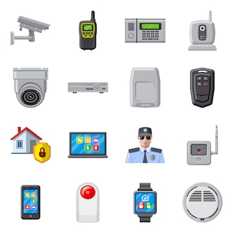 Illustration vectorielle de symbole de bureau et de la maison. ensemble de bureau et système
