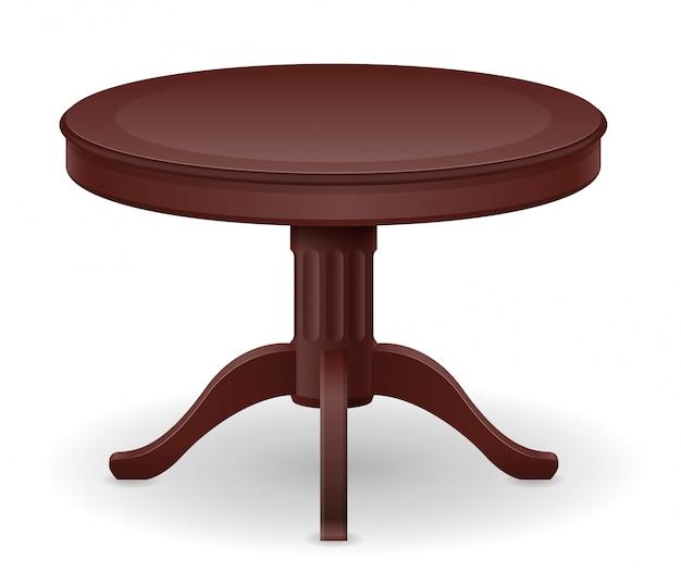 Illustration vectorielle de table en bois mobilier