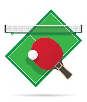 Illustration vectorielle de table de ping pong
