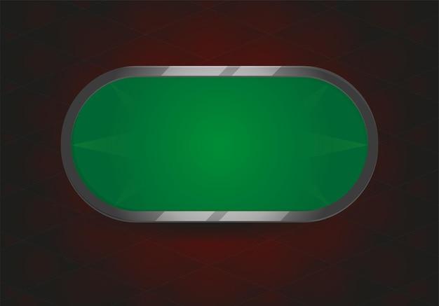 Illustration vectorielle de table de poker ou de black jack. terrain de jeu au poker ou au black jack