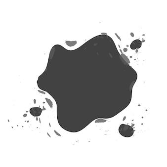 Illustration vectorielle de taches d'encre abstraites en forme et de taille isolées sur blanc.
