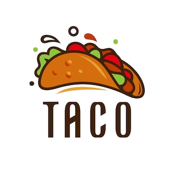 Illustration vectorielle de taco logo template