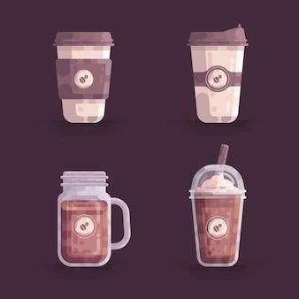 Illustration vectorielle de tasses à café