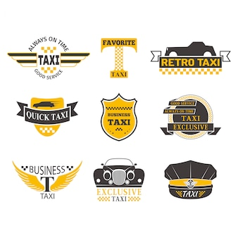 Illustration vectorielle de taxi insigne.