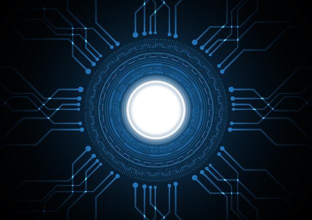 Illustration vectorielle de technologie abstraite futur cercle circuit fond