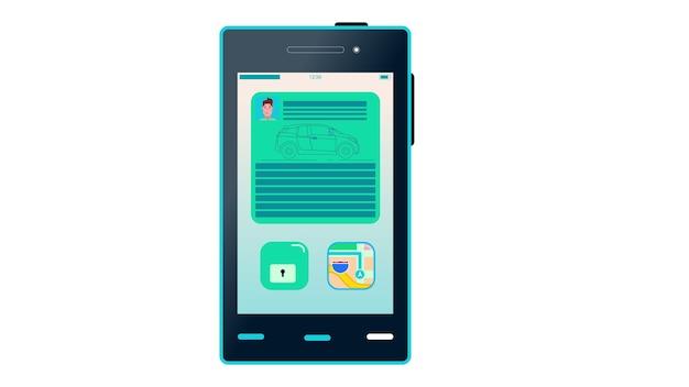 Illustration vectorielle de téléphone portable isolé