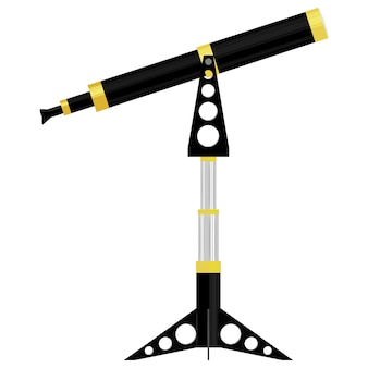 Illustration vectorielle d'un télescope