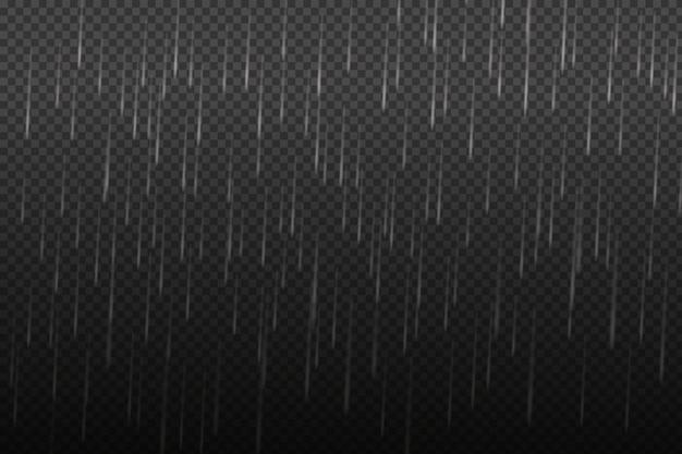Illustration vectorielle de temps unique frais avec nuages et fortes pluies d'automne.