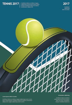 Illustration vectorielle de tennis championship poster