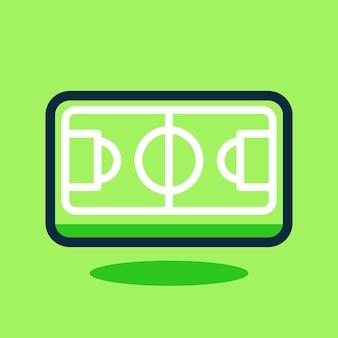 Illustration vectorielle de terrain de football dessin animé