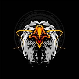 Illustration vectorielle de tête d'aigle. convient aux t-shirts, aux imprimés et aux vêtements