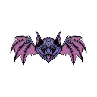 Illustration vectorielle de tête de chauve-souris