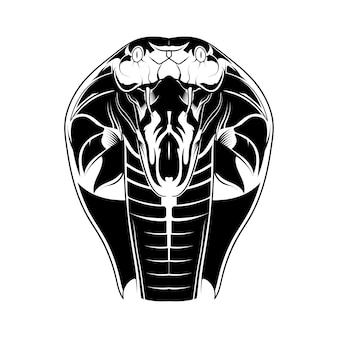 Illustration vectorielle tête cobra isolé
