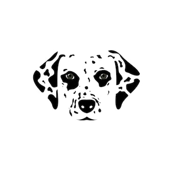 Illustration vectorielle tête dalmatien.