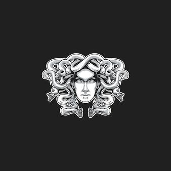 Illustration vectorielle tête de méduse