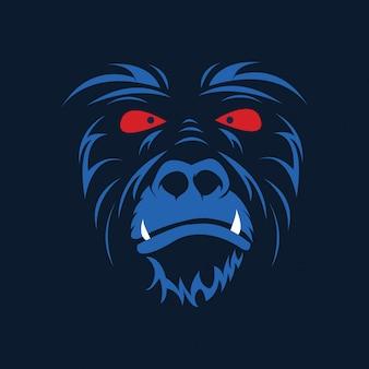 Illustration vectorielle tête de singe
