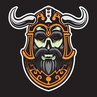 Illustration vectorielle tête viking