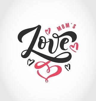 Illustration vectorielle de texte d'amour pour les vêtements de filles de garçons icône d'insigne d'amour carte de citation inspirante