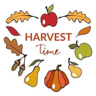 Illustration vectorielle de thanksgiving automne fond