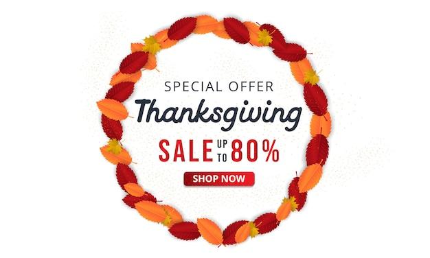 Illustration vectorielle de thanksgiving salutation main lettrage étiquette.
