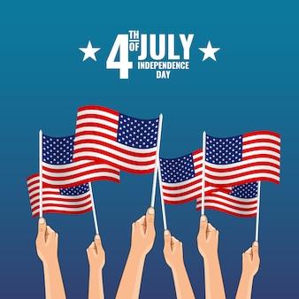 Illustration vectorielle sur le thème le 4 juillet