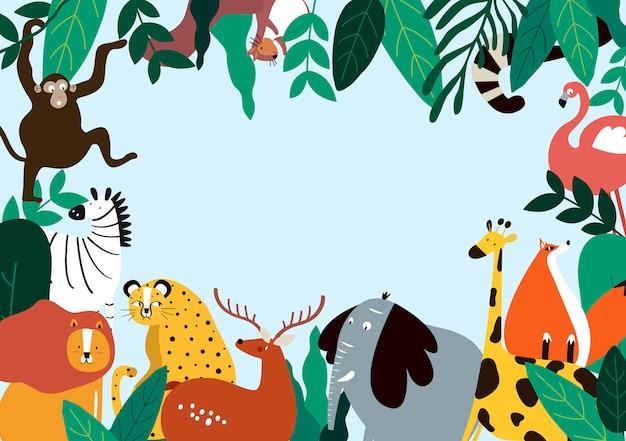 Illustration vectorielle de thème animaux thème