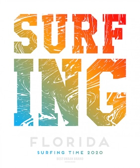 Illustration vectorielle sur le thème du surfeur