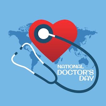 Illustration vectorielle sur le thème de la journée du médecin. pour une affiche, une bannière et une carte de voeux.