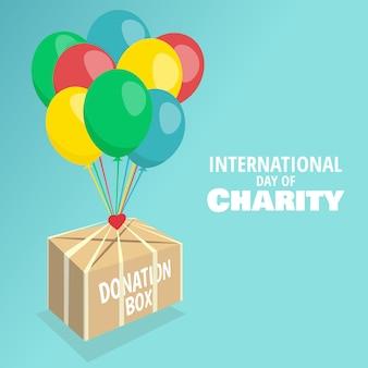 Illustration vectorielle sur le thème journée internationale de la charité