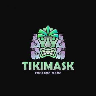 Illustration vectorielle de tiki mask logo design