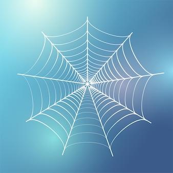 Illustration vectorielle de toile d'araignée. décoration d'halloween avec toile d'araignée. graphique de contour de toile d'araignée