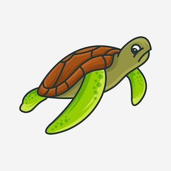 Illustration vectorielle de tortue
